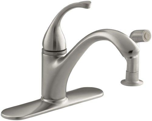 (KOHLER 10412-VS Forté(R) 4-Hole Sink 9-1/16