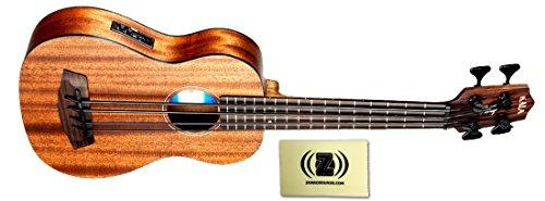 Kala U-Bass All Solid Mahogany Fretted Short-Scale Acoustic-Electric Bass Bundle with Polishing Cloth by Kala