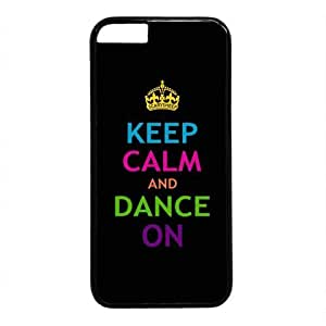Keep Calm And Dance On Theme Hard Back Cover )