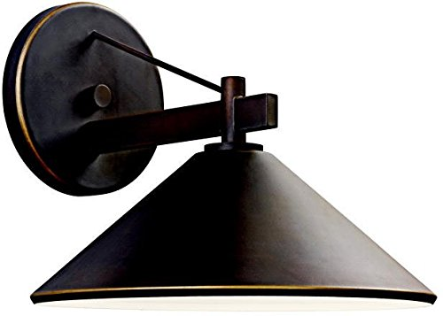 Kichler 49061OZ Ripley Indoor/Outdoor Wall 1-Light, Olde Bronze