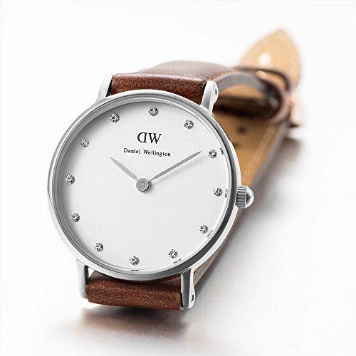 Daniel-Wellington-0920DW-Reloj-con-correa-de-cuero-para-mujer-color-blanco-gris