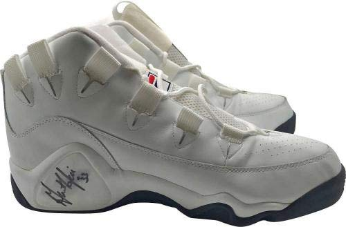 Grant Hill Signed Autographed Game Issued Fila Basketball Sneakers MEARS JSA Certified Autographed NBA Sneakers