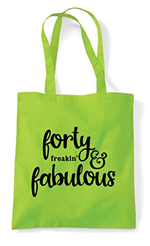 Forty Shopper Freaking Lime Bag Statement Tote And Fabulous rZrxwqTgYB