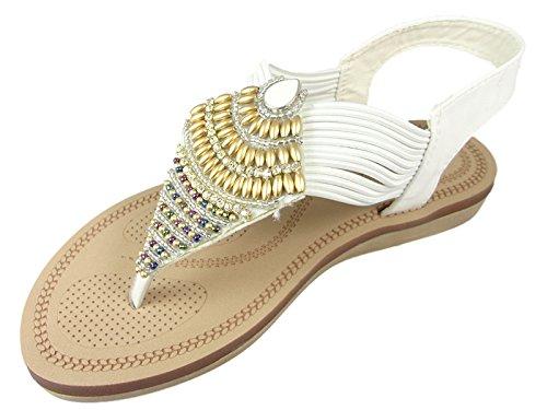 SavannahF0989 - Zapatos con correa de tobillo mujer blanco