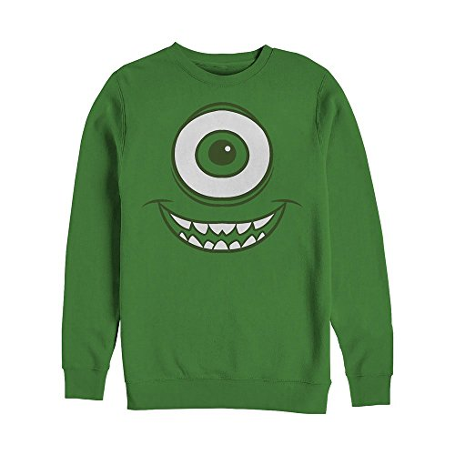 Fifth Sun Monsters Inc Men's Mike Wazowski Eye Kelly Green Sweatshirt ()