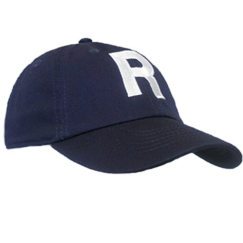 5af49475f9331 Tiny Expressions Toddler Boys  and Girls  Navy Embroidered Initial Baseball  Hat Monogrammed Cap (