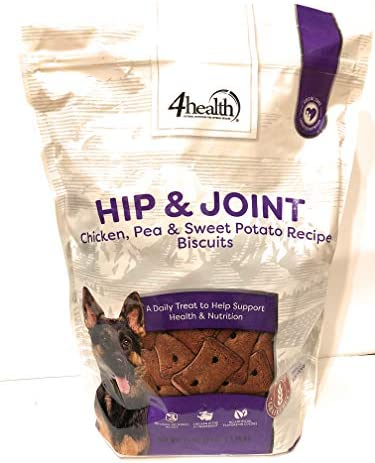 4health Tractor Supply Company Hip Joint Chicken Pea Sweet Potato Recipe Biscuits Treats Grain Free, 3 Pound Bag