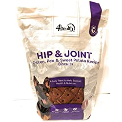 4health Tractor Supply Company Hip & Joint Chicken Pea Sweet Potato Recipe Biscuits Treats Grain Free, 3 Pound Bag