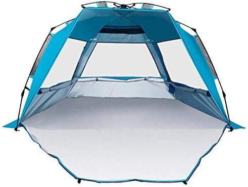 LLSS Tiendas de Playa portátiles para Acampar al Aire Libre UV Sun Shelter A Prueba de Viento Impermeable Transpirable Fit 3-4 Persona