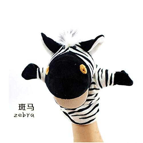 (COSHAYSOO Hand Puppets Animal Friends Deluxe Kids with Working Mouth for Imaginative Play (Zebra))