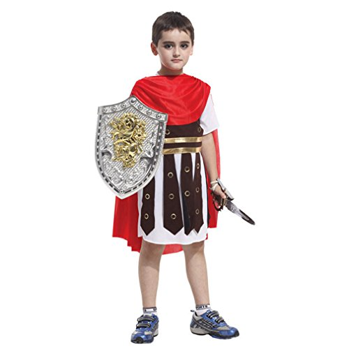 [PNBB Kids Roman Little Soldier Costume Cosplay Role Playing Dress,X-large Size] (Cheap Roman Costumes)