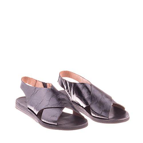 Carolina Com Mujer Zapatos Para Genuino Sandalias Enamorarse Felmini Negro B112 Cuero XxPRa7xw