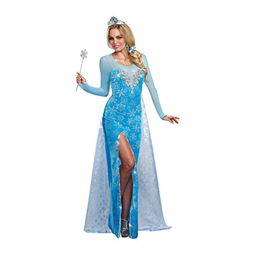 [Dreamgirl Women's Sexy Scandinavian Fairytale Princess Costume, Ice Queen, Blue, Small] (Sexy Fairy Halloween Costumes)
