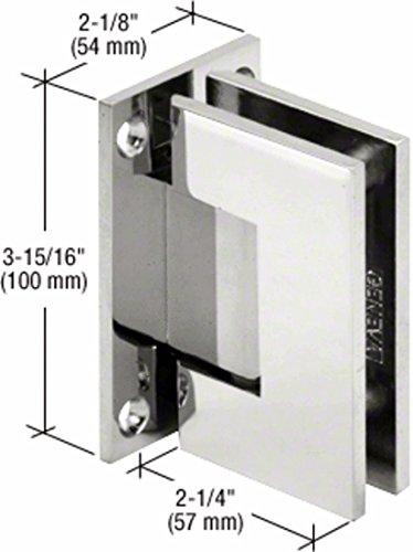 Vienna 037 Series - CRL Vienna 037 Series Chrome Wall Mount Shower Door Hinge with Internal 5 Degree Pin