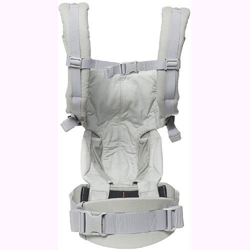 Ergo Baby Omni 360 All-in-One Ergonomic Baby Carrier with Teething Pad and Bib - Pearl Grey/Natural by Ergobaby (Image #2)
