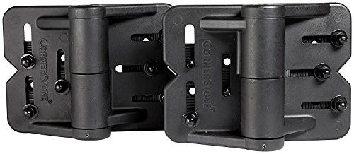 Nationwide Industries CornerStone Self-Closing Hinge, Adjustable Nylon - Self Drilling, Black