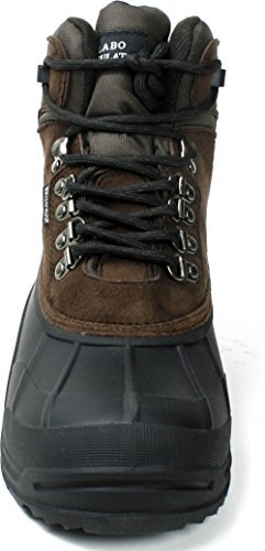 LABO Mens Snow Boots Waterproof Insulated Lace UP 2 Style by CITISHOESNYC 8, Brown103
