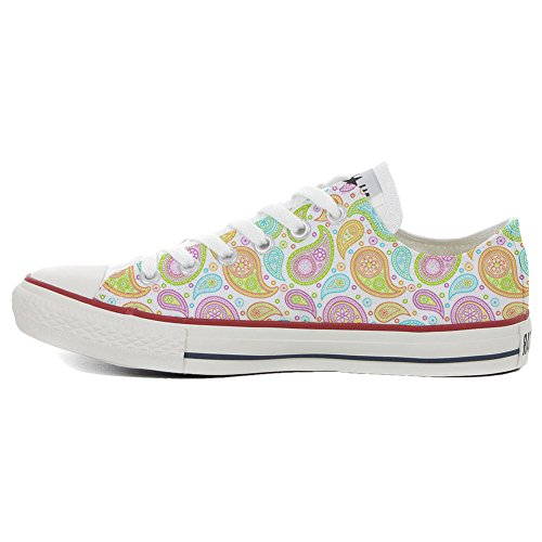 Paisley Colorful Coutume Star produit Artisanal Slim Mixte Converse All Adulte Chaussures Opzwzq6Zn