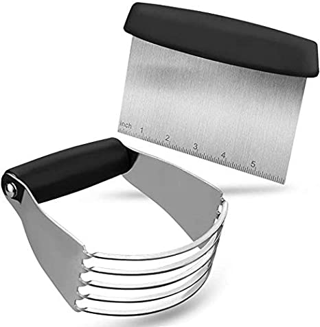 Pastry Cutter Set, Pastry Blender and Dough Scraper