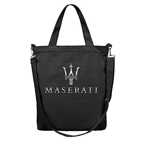 d59c2e2f66423 Women Tote Shopping Bag Maserati Logo Canvas Washable Shoulder Duck Tote  Bag Perfect for Shopping