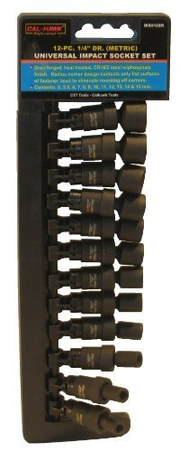 Cal Hawk Tools BISU122M 12 Piece 1/4