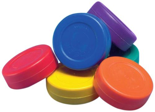 Wickplay Vibrant Colors Hockey Pucks - Remarkable Great Flatness