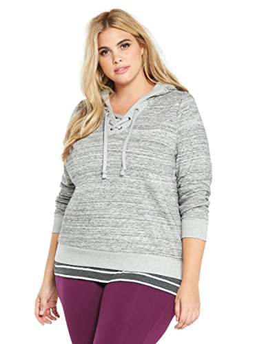 Lace Up Cropped Hoodie Sweatshirt