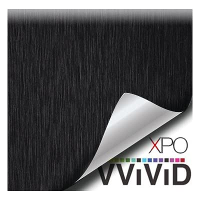 VViViD Black Brushed Steel 5 Feet x 1 Foot Vinyl Wrap Roll with Air Release Technology: Automotive [5Bkhe0416735]