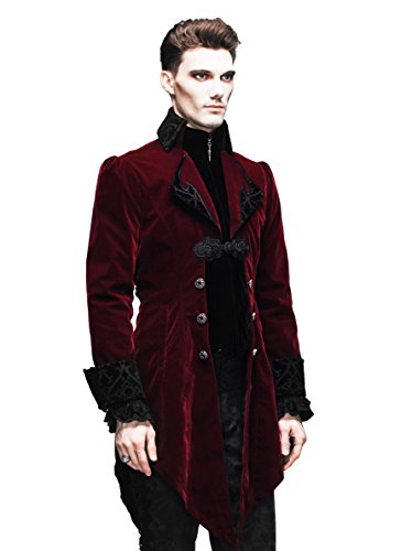 [Steampunk Coat Gothic Clothing Cyberpunk Clothes Punk Jacket Renaissance Costume (L)] (Plus Size Adult Halloween Costumes Ideas)