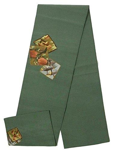 ふざけた不変クローンリサイクル 袋帯  本綴れ 飛鶴に松 正絹 お太鼓柄