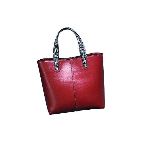 Celebrity Brand Red Real Ladies Designer Large Leather Handbag New Womens Shoulder q7afwEx