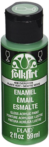 FolkArt Enamel Glass & Ceramic Paint in Assorted Colors (2 oz), 4036, Evergreen