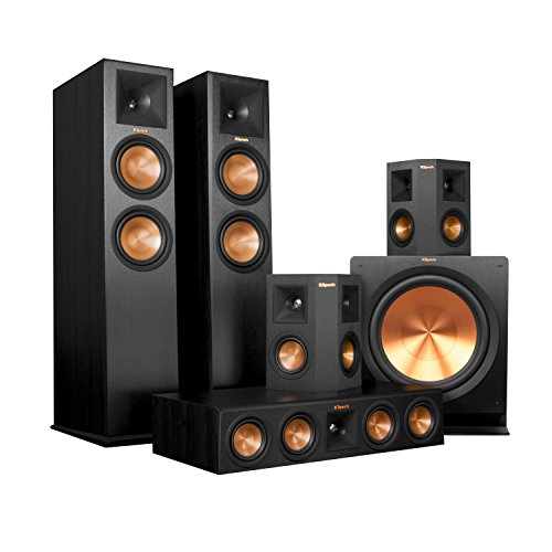 Klipsch RP-280FA Home Theater System Bundle (Black) with Denon AVR ...