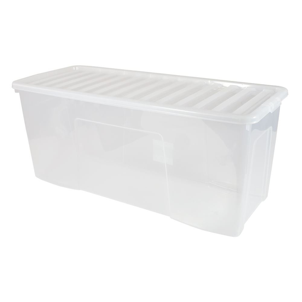 Genial EXTRA LARGE CLEAR PLASTIC STORAGE BOX WITH LID 133 LITRE: Amazon.co.uk: DIY  U0026 Tools
