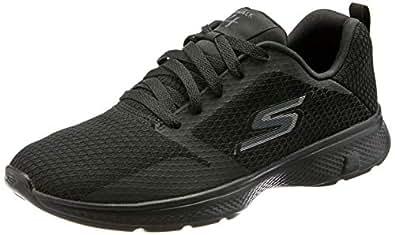 Skechers Men's GO Walk 4 - Admiral Walking Shoe, Black/Black, 10 US