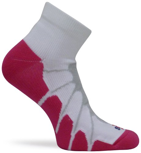 - Sox Sport Plantar Fasciitis Arch Support Low Cut Running, Gym Compression Socks,White/Pink, Medium - SS4011