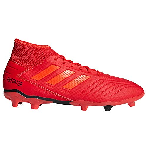 adidas Predator 19.3 Firm Ground Football Soccer Boot Red Initiator - UK 8