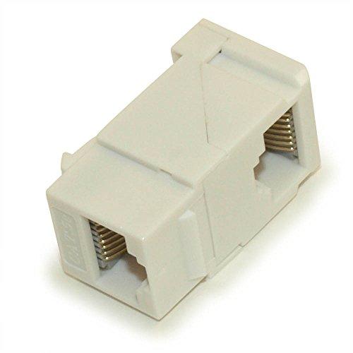MyCableMart Wall Plate: 90 Degree Keystone Jack/Coupler-Cat 5E/6 RJ-45 Networking, ()