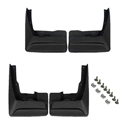 (Set of 4 Front and Rear Mud Flaps Splash Guards for Toyota Sienna 2011-2017)