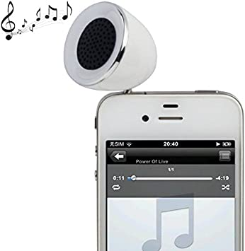 Mini Altavoz portátil Jack 3.5 MP3 Smartphone Tablet Color Blanco ...