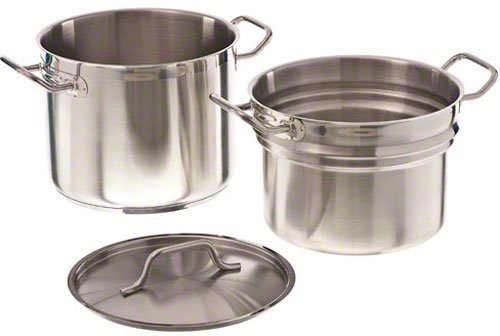 Update International (SDB-08) 8 Qt Induction Ready Stainless Steel Double Boiler w/Cover