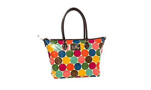 Fashion Canvas Due Manici Adriana Donna Pois Travel Hoy pelle Borsa Eco ORgBnq8fwf