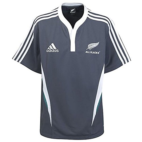ADIDAS All Blacks Rugby Training Shirt Short Sleeved 09/11 [] (DE) Marine -X, groß