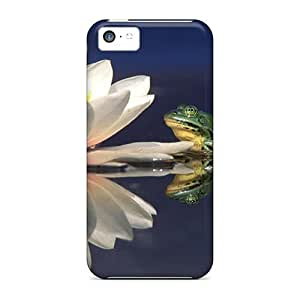 Durable Frogs Lotus Back Case/cover For Iphone 5c