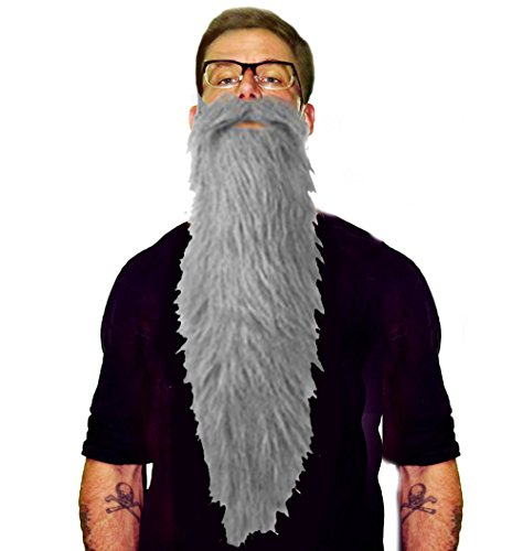 Gray Beard & Mustache Set | Grey ZZ
