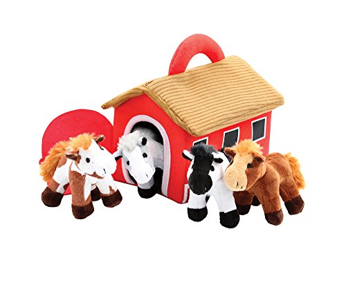 Plush Horse Stable Carrier With 4 Neighing Horses by Animal House ()