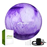 Trideer Exercise Ball (Purple&White, 55cm)