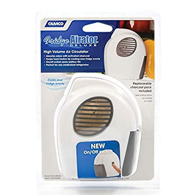 Camco Fridge Airator with On/Off Switch - Absorbs Refrigerator Odors and Smells, Space Efficient Compact Design, Maintains Consistent RV Temperature (44124): Automotive