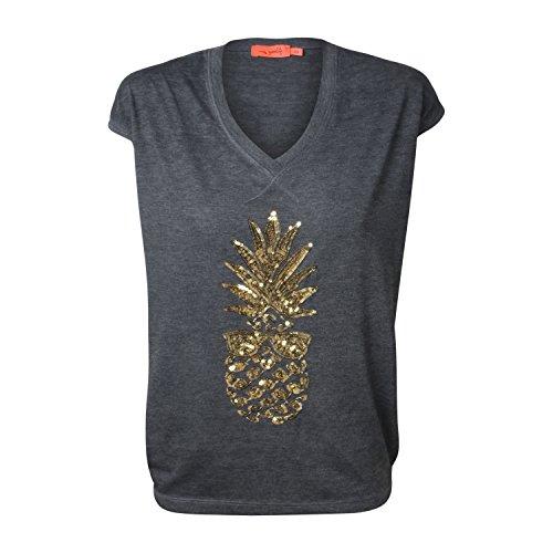 "T-Shirt ""Pineapple"" - von Miss Goodlife - Farbe gold grey"
