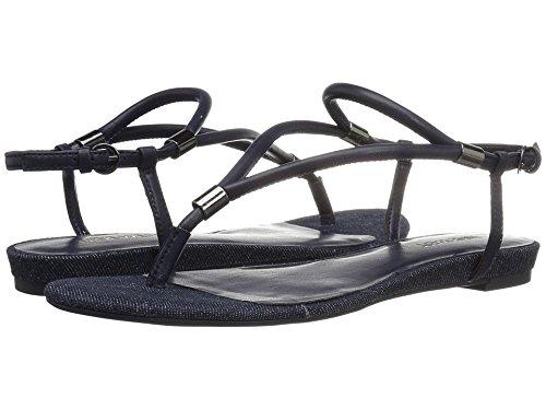 Nine West Flat Sandals - Nine West Women's Rivers Synthetic Dress Sandal, Navy, 5.5 M US
